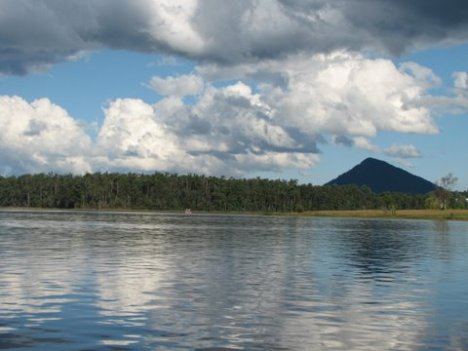 View Across Lake MacDonald During a Free Boat Tour