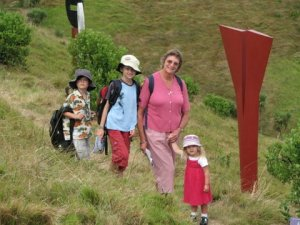 The Candy kids doing the Waiheke Island sculpture walk with granny