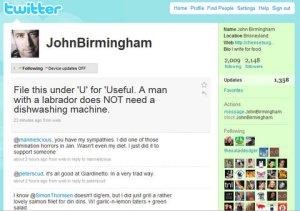 John Birmingham (JohnBirmingham) on Twitter - Mozilla Firefox 7262009 85712 PM